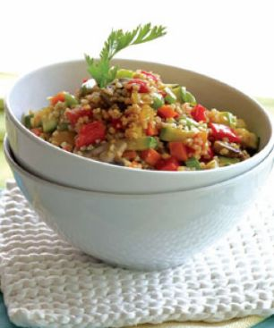 Taboulé Chaud aux Légumes et au Mastiha de Chios