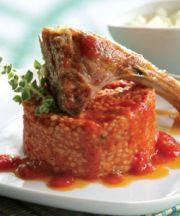 Braised Goat with Chios Mastiha, Tomatoes, and Trahana
