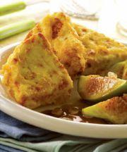 Crema de queso frito con salsa de higos y Chios Mastiha