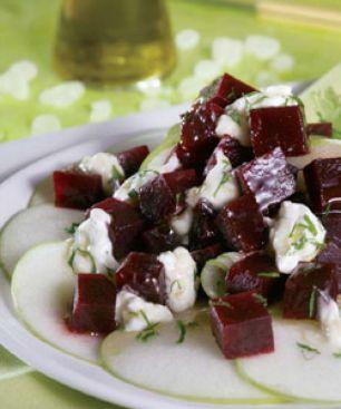 Salade de Betteraves au Yaourt, aux Pommes et au Mastiha de Chios